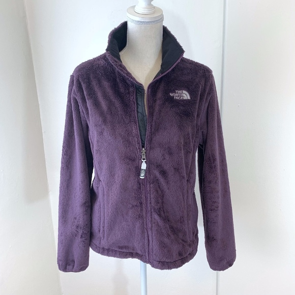 wholesale dealer 4f30b 15021 North Face Purple Furry Zip Up Fleece Jacket {AP2}